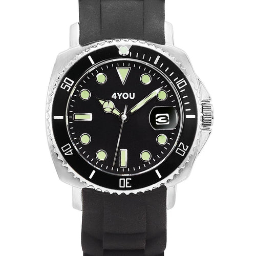 4YOU Herren Uhr Armbanduhr Analog Quarz Silikon 250006006