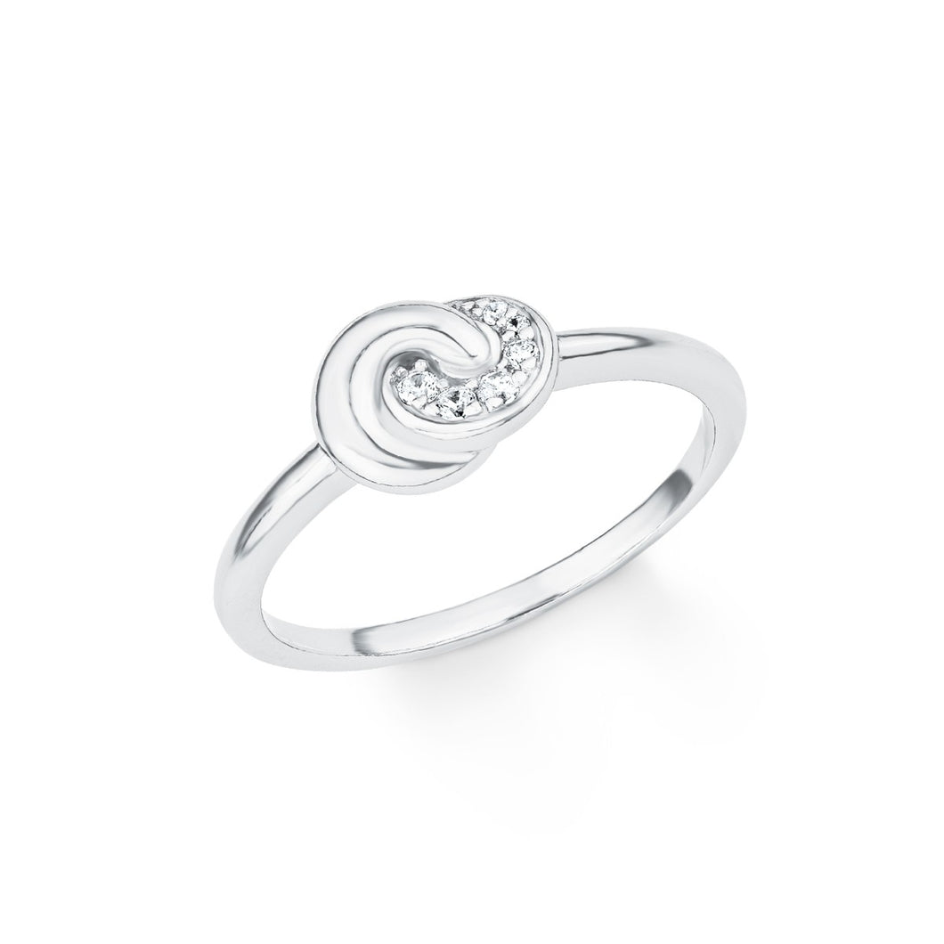 s.Oliver Jewel Damen Ring Silber Zirkonia SO PURE Knoten 201718