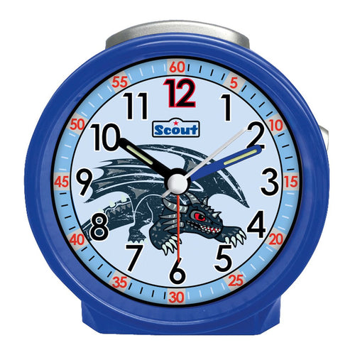 Scout Kinder Wecker Alarm Friends BLACK DRAGON Blau Jungen 280001024
