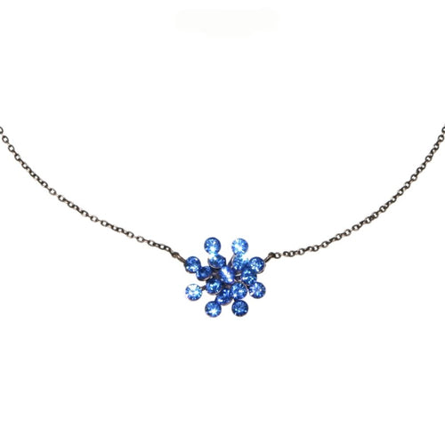 Konplott Halskette hängend Collier Magic Fireball blau Saphir