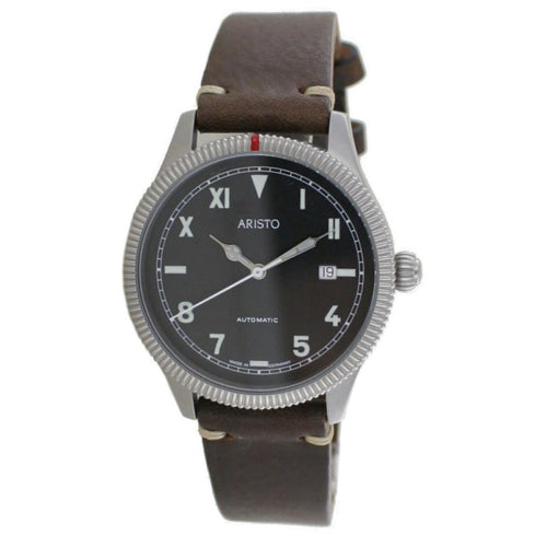 Aristo Herren Uhr Automatic California 3H193 Leder