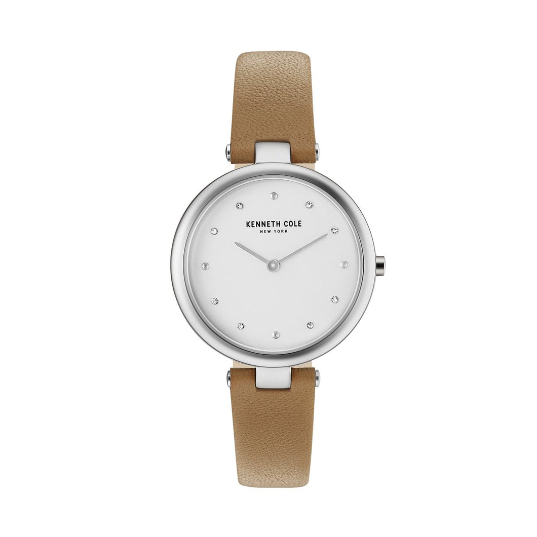 Kenneth Cole New York Damen-Armbanduhr Analog Quarz Leder KC50513001