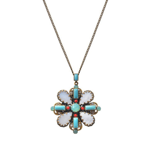 Konplott Halskette Collier Yoga Californica multi light Blume