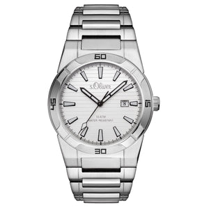 s.Oliver Herren-Armbanduhr Analog Quarz SO-15157-MQR