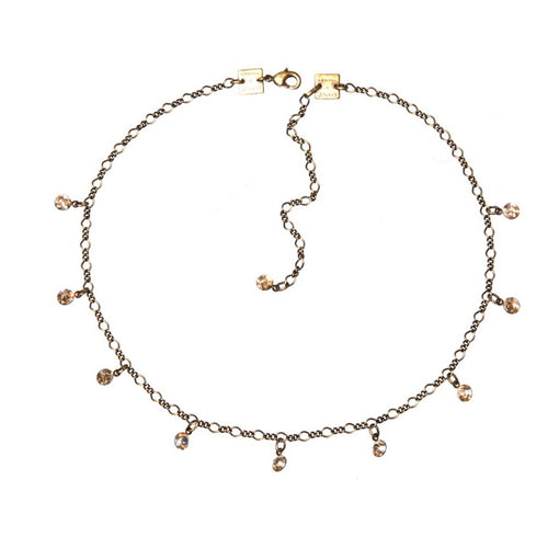 Konplott Kette Collier Tutui Collection beige crystal golden silber