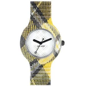 Hip Hop Uhr Silikonuhr Tartan small HWU0375 edinburgh yellow