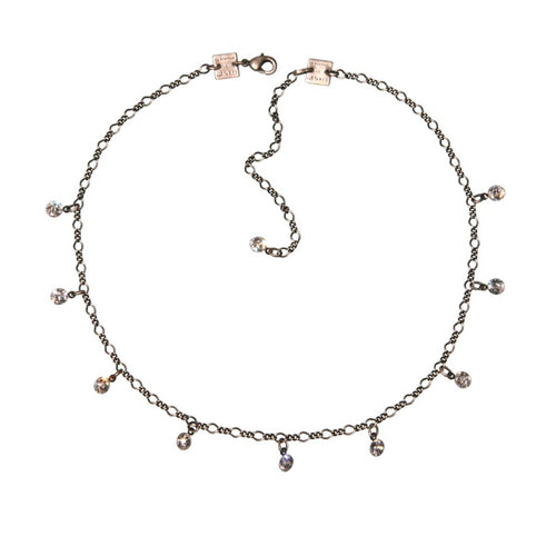 Konplott Kette Collier Tutui Collection weiß crystal silber
