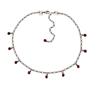 Konplott Kette Collier Tutui Collection rot siam silber