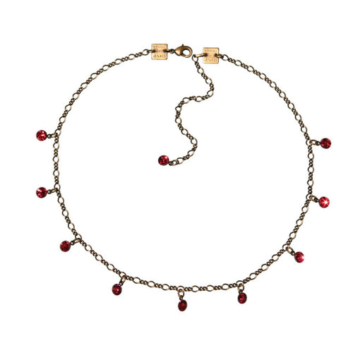 Konplott Kette Collier Tutui Collection pink indian pink silber