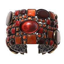 Laden Sie das Bild in den Galerie-Viewer, Konplott Armband Armreif Checks Oval brown