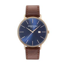 Laden Sie das Bild in den Galerie-Viewer, Kenneth Cole New York Herren Uhr Armbanduhr Leder KC15059007