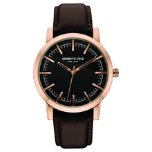 Laden Sie das Bild in den Galerie-Viewer, Kenneth Cole New York Herren-Armbanduhr Analog Quarz Leder 10030809