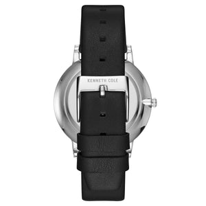 Kenneth Cole New York Herren-Armbanduhr Analog Quarz Leder KC50009001