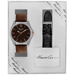 Kenneth Cole New York Herren-Armbanduhr Analog Quarz Leder KC5163
