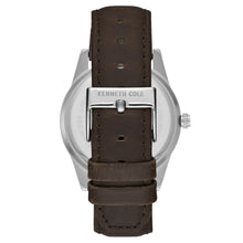 Laden Sie das Bild in den Galerie-Viewer, Kenneth Cole New York Herren-Armbanduhr Analog Quarz Leder KC15205001