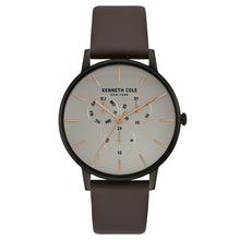 Laden Sie das Bild in den Galerie-Viewer, Kenneth Cole New York Herren-Armbanduhr Analog Quarz Leder KC50008002