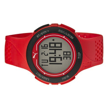 Laden Sie das Bild in den Galerie-Viewer, Puma Uhr Armbanduhr Unisex Touch Red Black Digital PU911211002