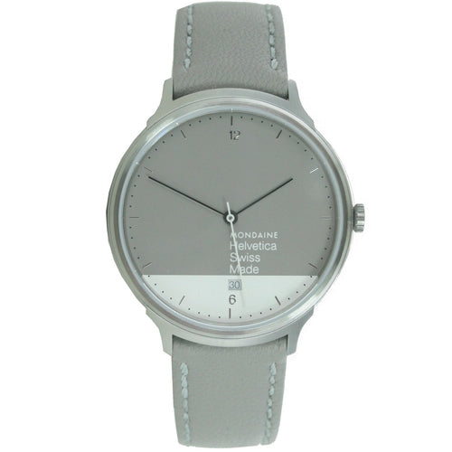 Mondaine Unisex Uhr Helvetica No1 Light GRAPHIC EDITION MH1.L2280.LH Leder