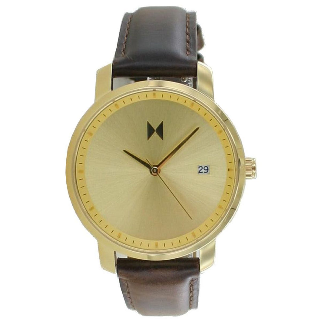 MVMT Signature Damen Uhr Armbanduhr Gold Brown MF01-GBR Leder
