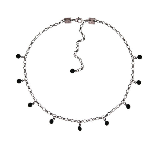 Konplott Kette Collier Tutui Collection black jet silber