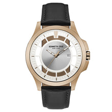Laden Sie das Bild in den Galerie-Viewer, Kenneth Cole New York Herren-Armbanduhr Analog Quarz Leder 10027460