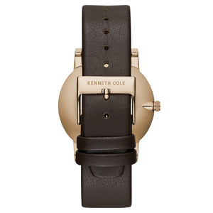 Kenneth Cole New York Herren-Armbanduhr Analog Quarz Leder 10030809