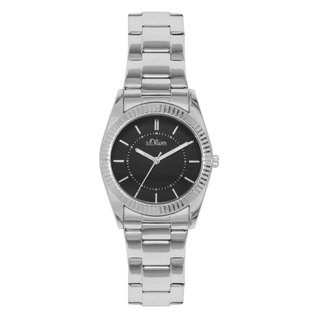 s.Oliver Damen-Armbanduhr Analog Quarz SO-15137-MQR