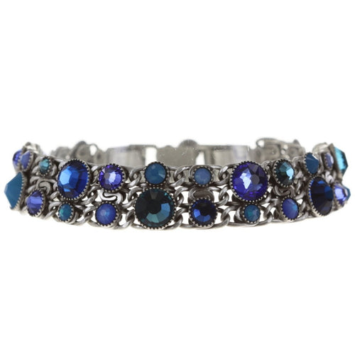 Konplott Armband Armkette Waterfalls blue antique silber