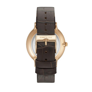 Kenneth Cole New York Herren Uhr Armbanduhr Leder KC15057013