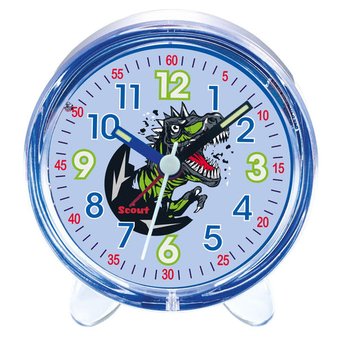 Scout Kinder Wecker Alarm Favorit BLACK DINO blau Jungen 280001032