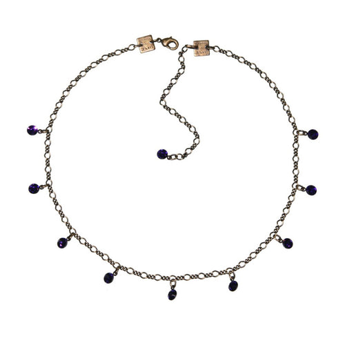 Konplott Kette Collier Tutui Collection lila purple velvet silber
