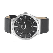 Laden Sie das Bild in den Galerie-Viewer, Esprit Collection Herren Uhr Armbanduhr Leodor Black Leder EL101381F03