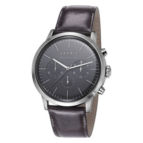 Esprit Collection Herren Uhr Armbanduhr Chrono Soter Leder EL102191002