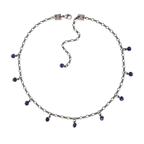 Konplott Kette Collier Tutui Collection lila tanzanite silber