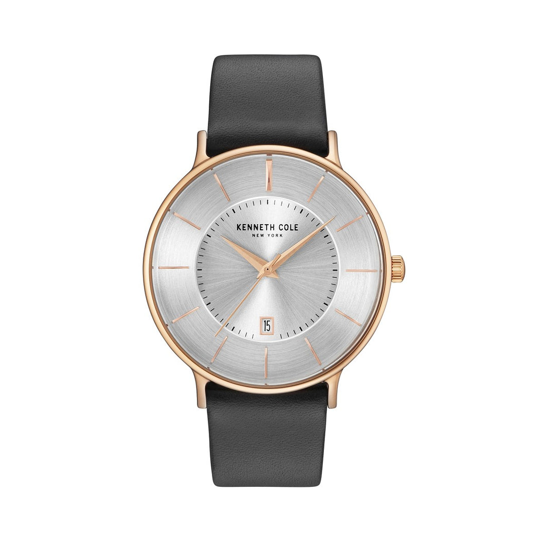 Kenneth Cole New York Herren Uhr Armbanduhr Leder KC15097002