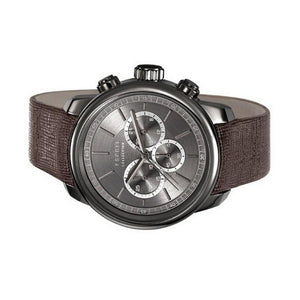 Esprit Collection Herren Uhr Armbanduhr Chrono Zethos Leder EL102171003