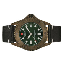 Laden Sie das Bild in den Galerie-Viewer, Swiss Alpine Military Herren Uhr Analog Quarz Vintage 7051.1583SAM Leder