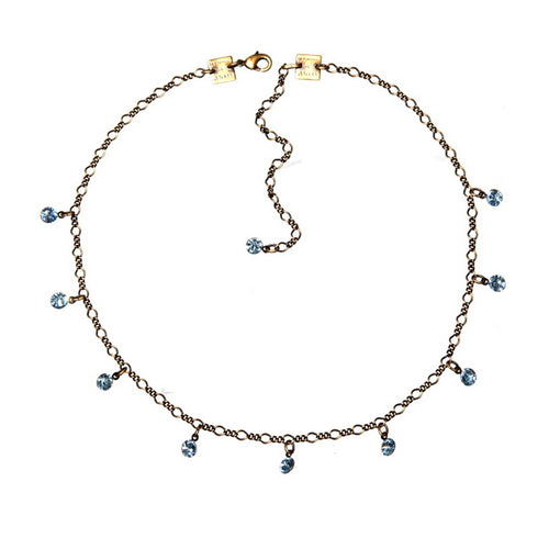 Konplott Kette Collier Tutui Collection hell blau aquamarine silber