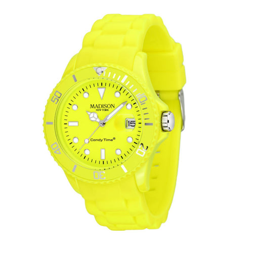Candy Time by Madison N.Y. Uhr Unisex U4503-50-1 neon gelb