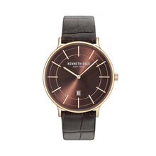 Laden Sie das Bild in den Galerie-Viewer, Kenneth Cole New York Herren Uhr Armbanduhr Leder KC15057013