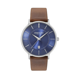Kenneth Cole New York Herren Uhr Armbanduhr Leder KC15097001