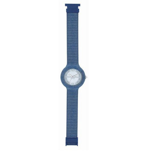 Hip Hop Uhr Armbanduhr Silikonuhr 42mm light blue Jeans HWU0297