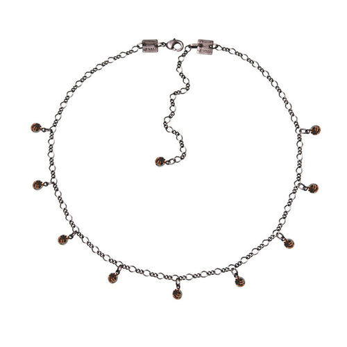 Konplott Kette Collier Tutui Collection hell beige smoked topaz silber