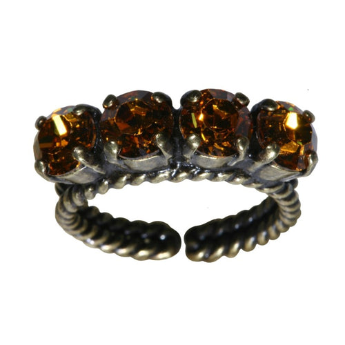 Konplott Ring Colour Snake gelb Topaz SS 29