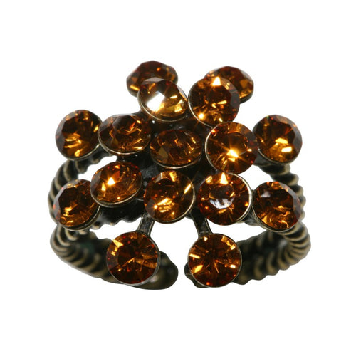 Konplott Ring Magic Fireball gelb Topaz