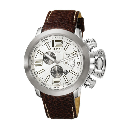 Esprit Collection Herren Uhr Armbanduhr Chrono Uranos Leder EL900211002