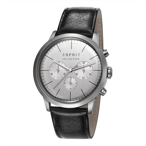 Esprit Collection Herren Uhr Armbanduhr Chrono Soter Leder EL102191001