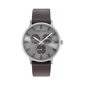 Kenneth Cole New York Herren Uhr Armbanduhr Leder 10031464