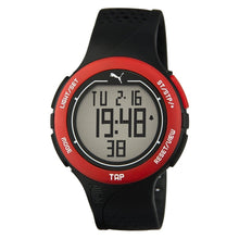 Laden Sie das Bild in den Galerie-Viewer, Puma Uhr Armbanduhr Unisex Touch Black Red Digital PU911211001