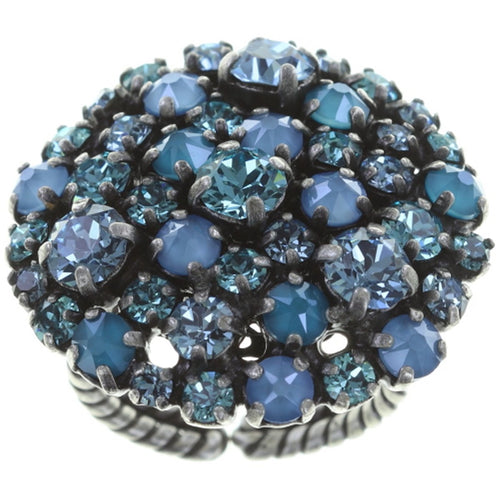 Konplott Ring Ballroom blue antique silver rund